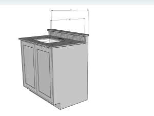 24 cabinet base as a bathroom vanity denver shower for 22 deep kitchen cabinets
