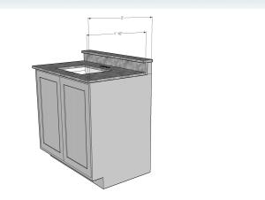 24 Cabinet Base As A Bathroom Vanity Bath Granite Denver
