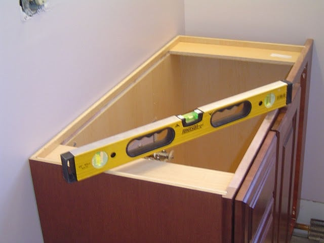 DIY Bathroom Vanity / The Bathroom Vanity, Shower Door, Granite