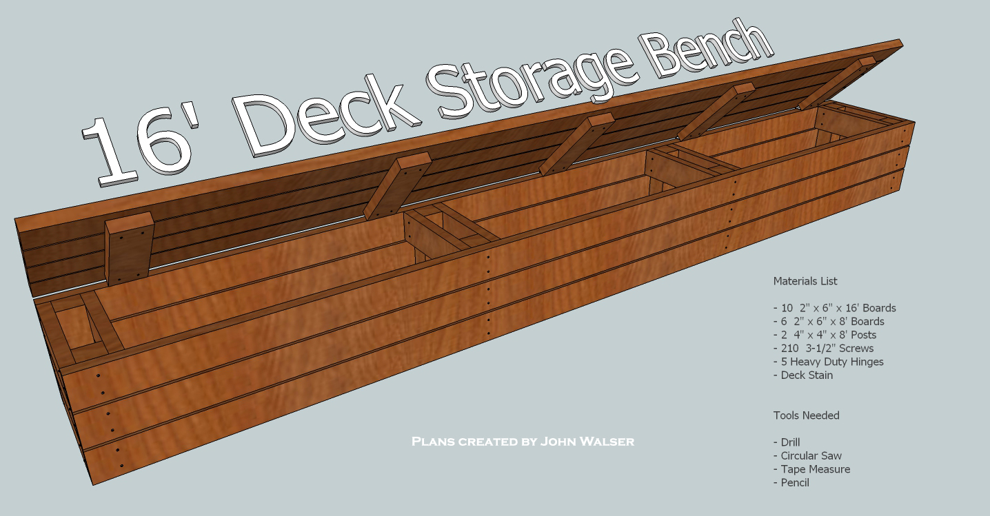 How To Build A Deck Storage Bench Toolaterials List