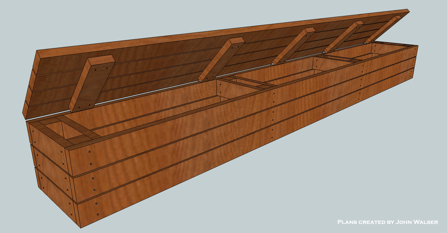 Woodworking deck bench storage build PDF Free Download