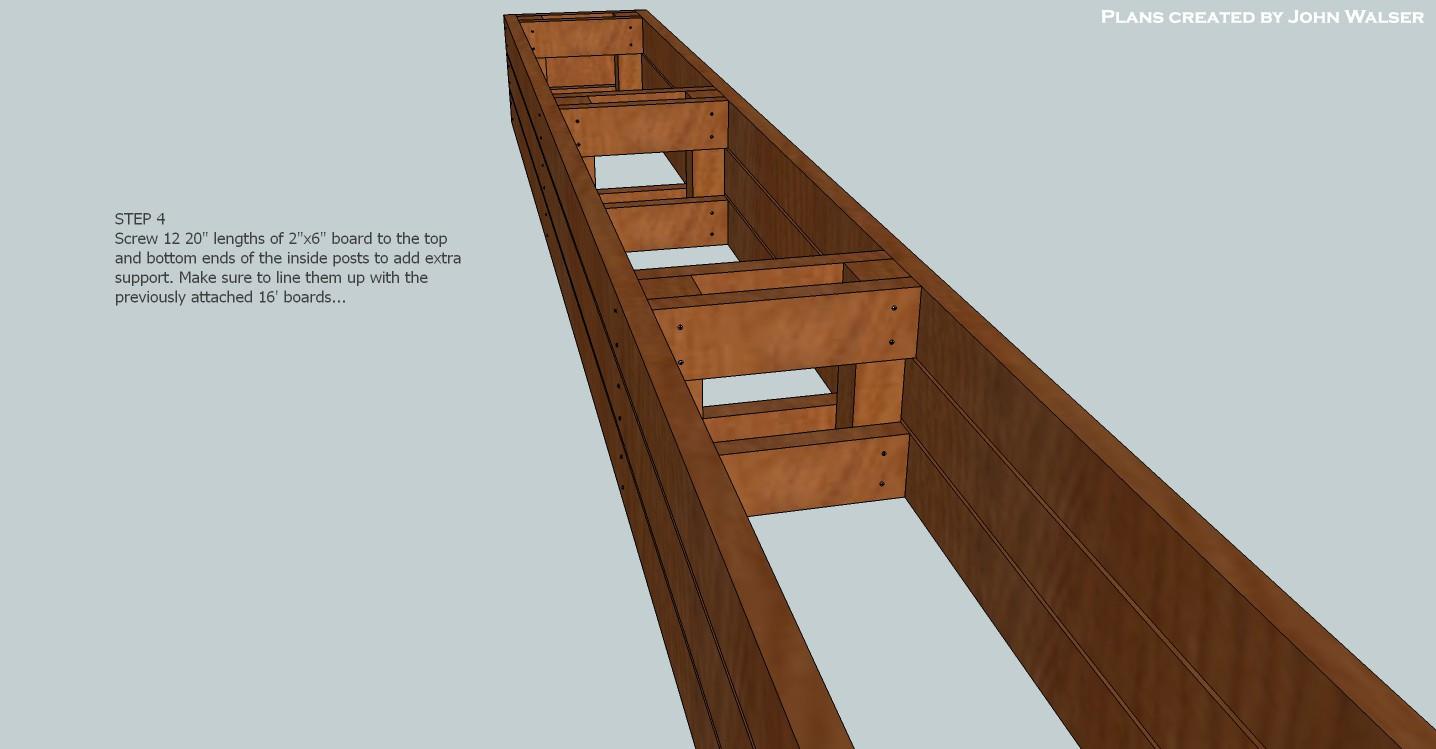 Lovely Deck Storage Bench Plans Step 04