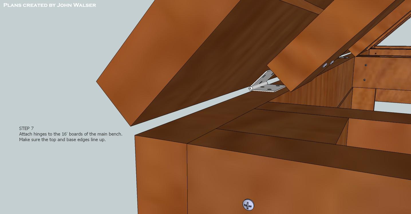 Deck Storage Bench Plans Step 07