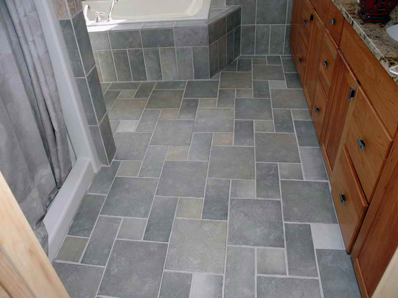 Tile floors vs linoleum denver shower doors denver for Tile linoleum bathroom