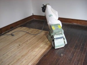 Refinishing-floor