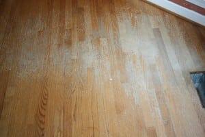 worn floor