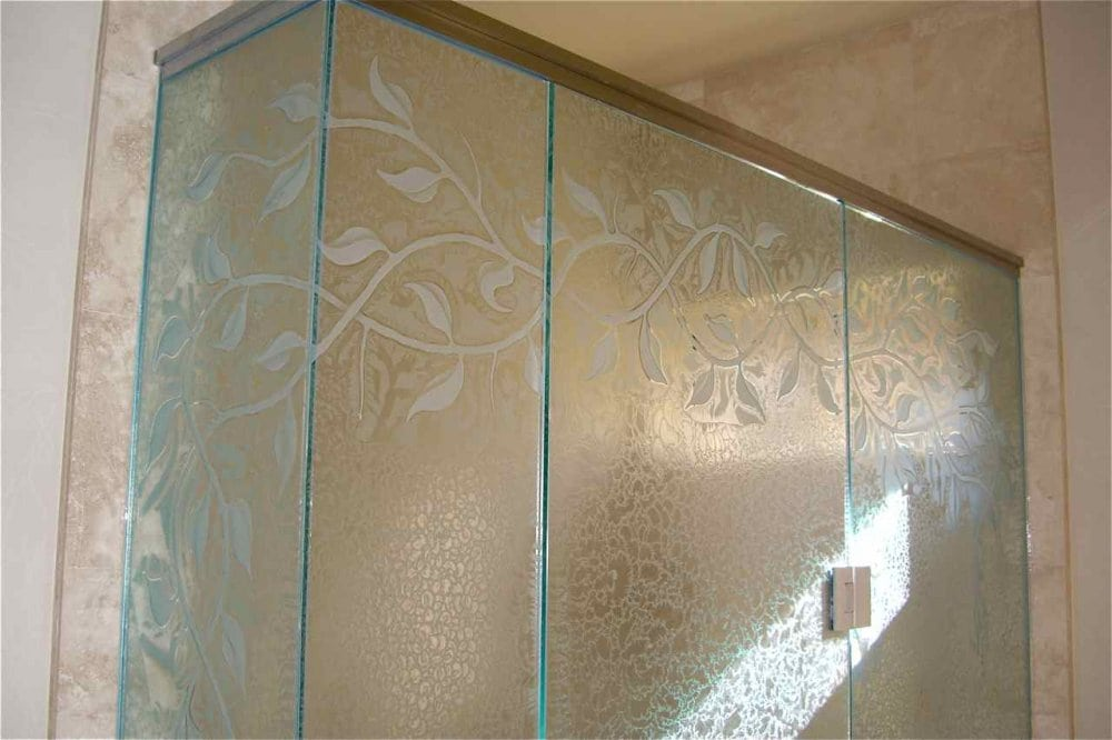 How To Frost Shower Glass Etched. «