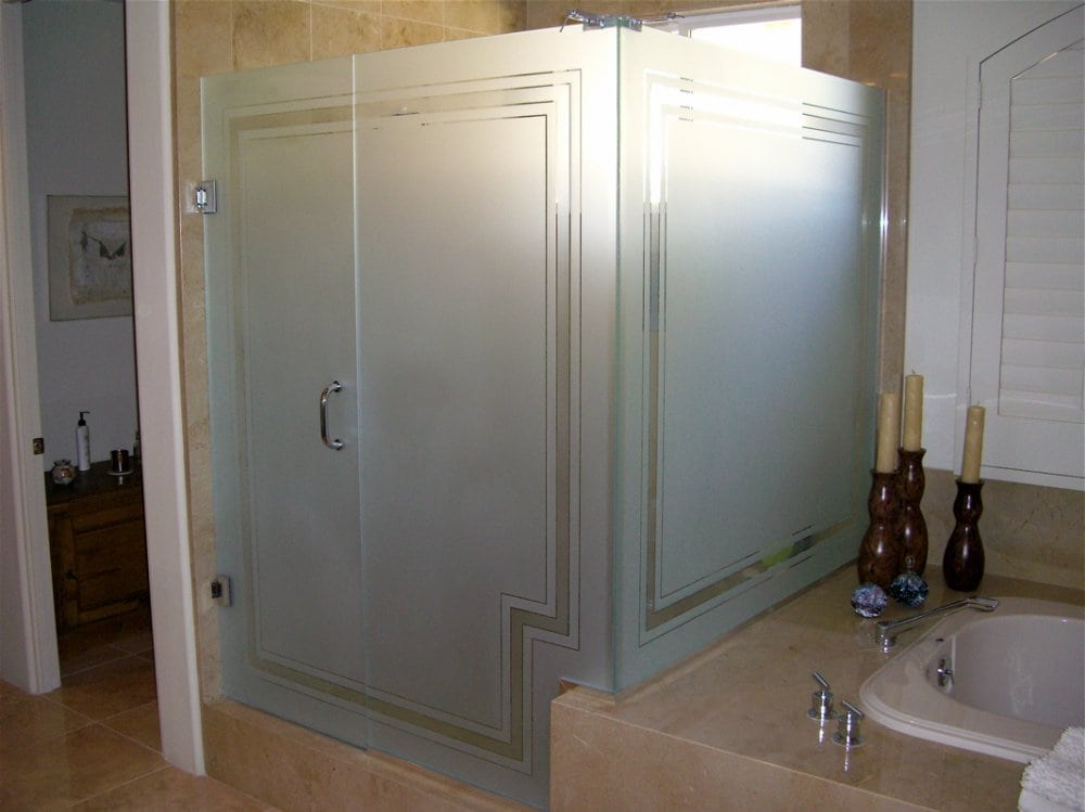 Frosted Glass Shower Doors how to frost shower glass - denver shower doors & denver granite