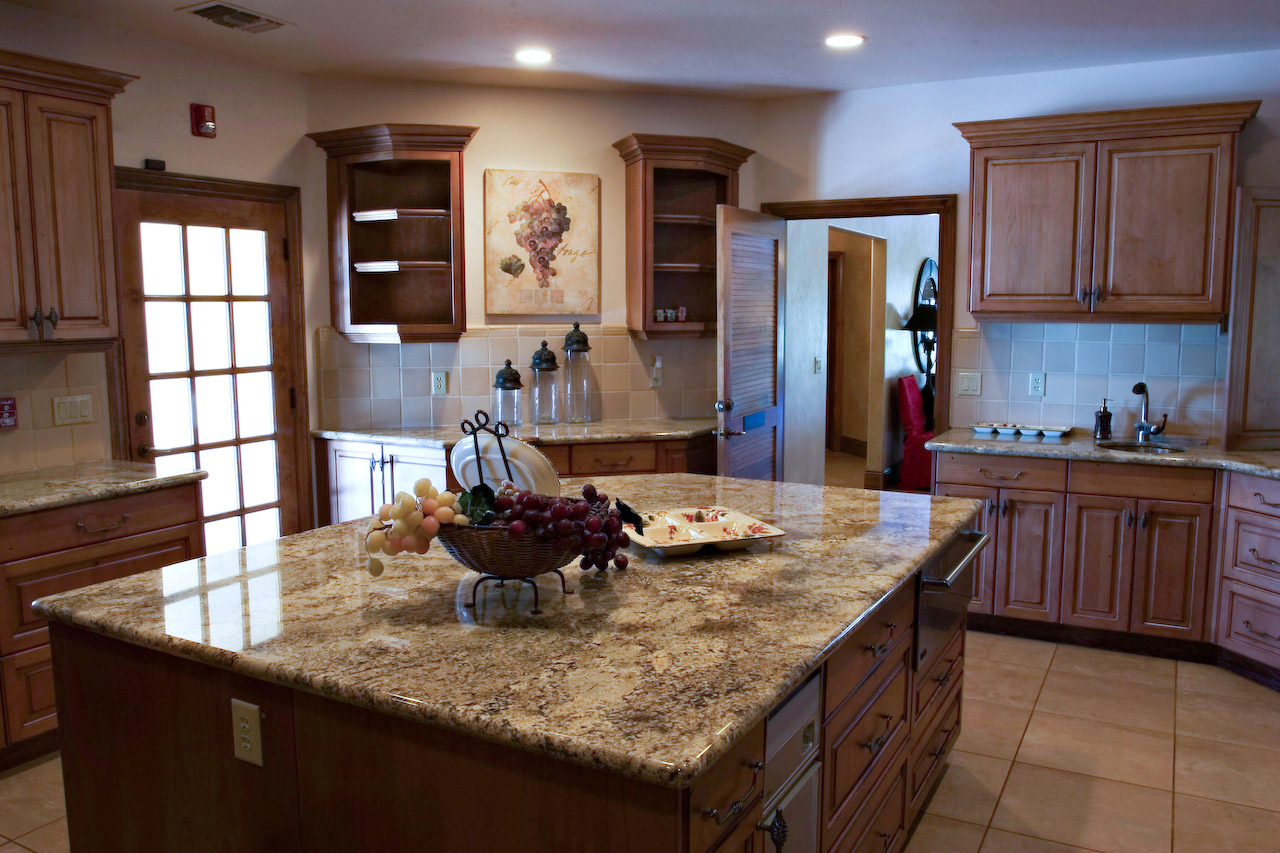 Colonial Gold Granite Kitchen Denver Kitchen Countertops Denver Shower Doors Denver Granite