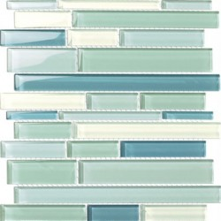Blue Ice Ragtime Glass Mosaic