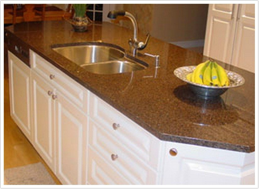 Desert Brown Granite | Bath & Granite Denver on Black Granite Countertops With Brown Cabinets  id=28855
