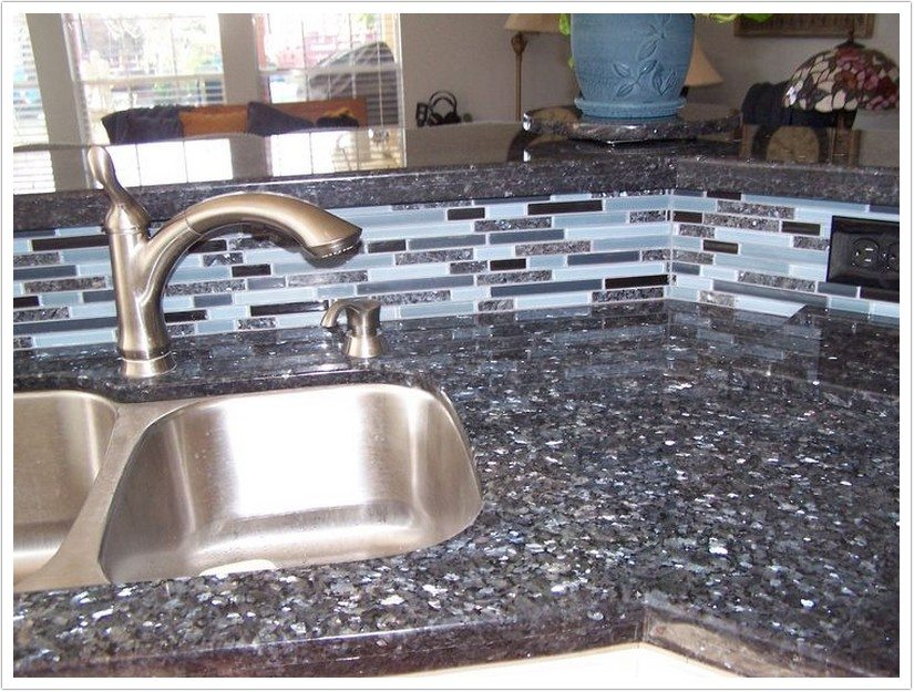 Deep Blue Pearl Granite Bath Amp Granite Denver