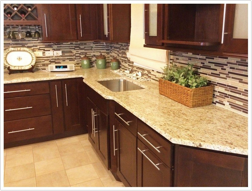 Granite Kitchen Countertops With Oak Cabinets