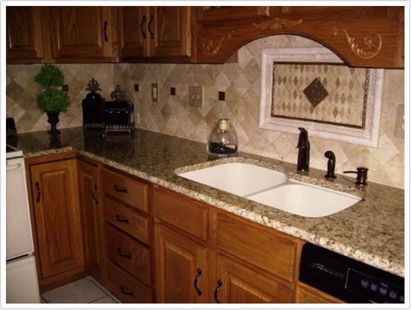 Kitchen White Cabinets Grey Countertops