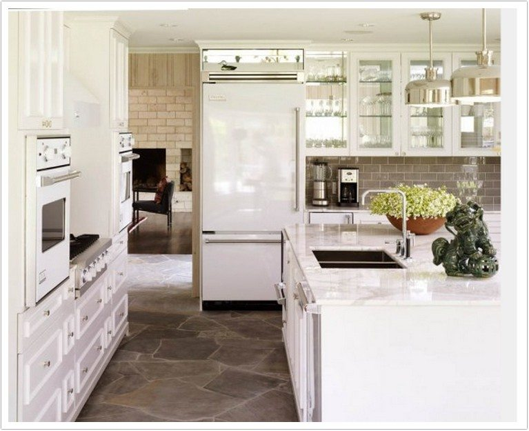 Kitchenaid Appliances White arabescus white marble - denver shower doors & denver granite