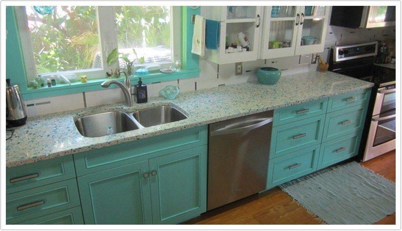 Denver Kitchen Countertops Bretagne Blue Vetrazzo 009