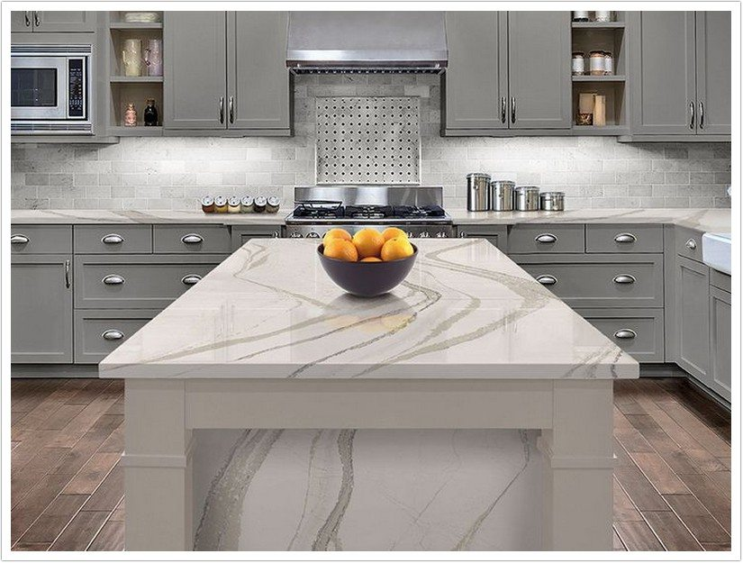 Gray Kitchen Cabinets With Granite Countertops