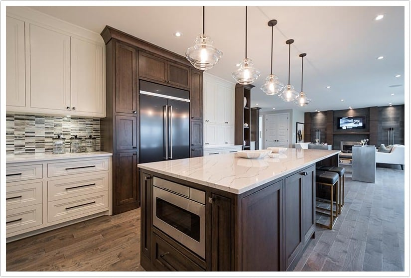 Kitchen Black Granite Countertops White Cabinets