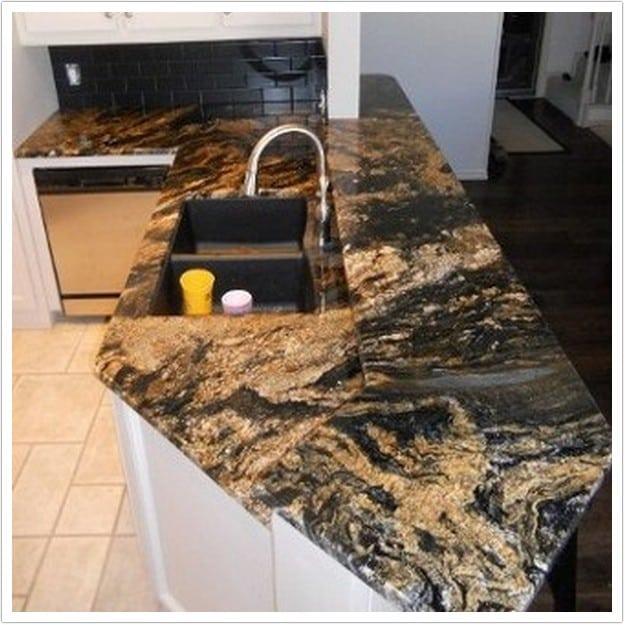 Magma Black Granite : Magma granite denver shower doors