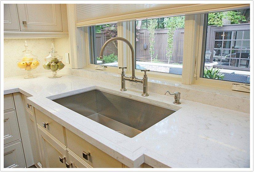 White Kitchen With Cambria Quartz Torquay Countertops