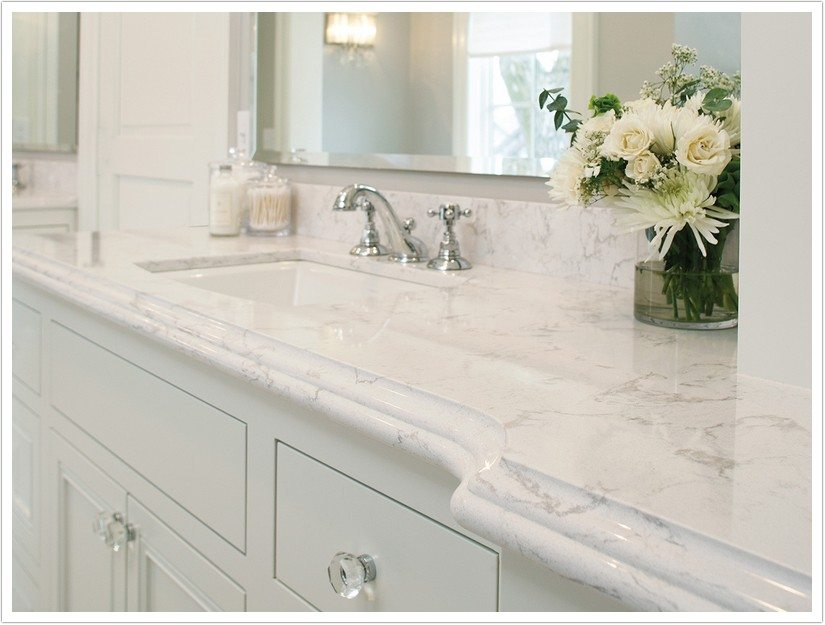 White Kitchen Cabinets With White Quartz Countertops