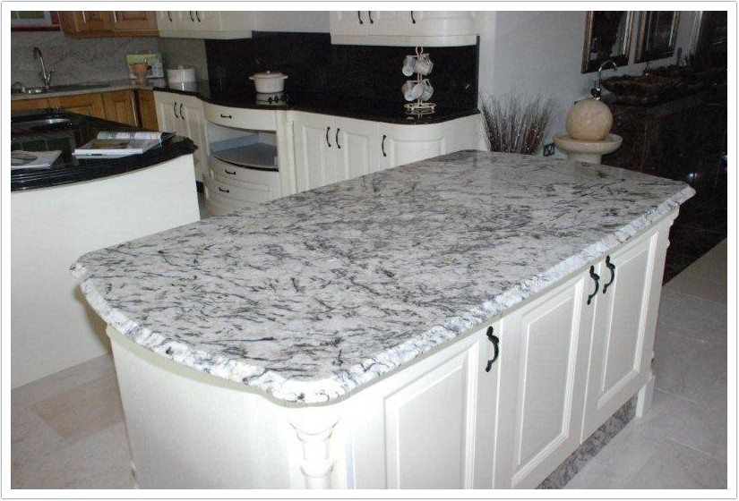 Ice White Granite Kitchen