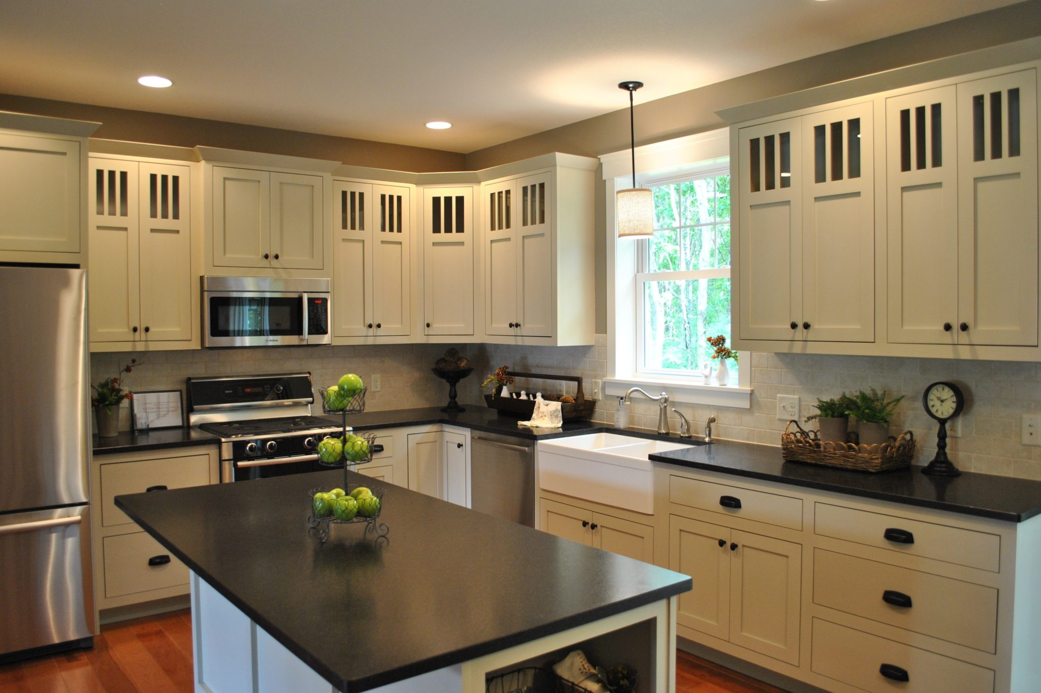 Black Pearl Granite Denver Shower Doors & Denver Granite Countertops