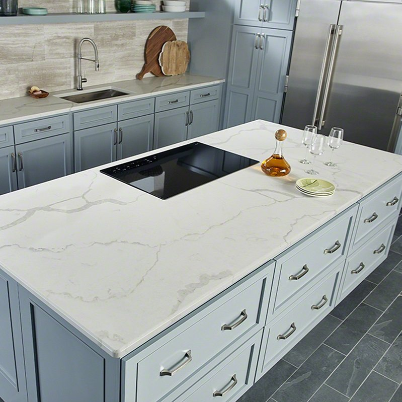Calacatta Laza Msi Quartz Denver Shower Doors Amp Denver Granite Countertops