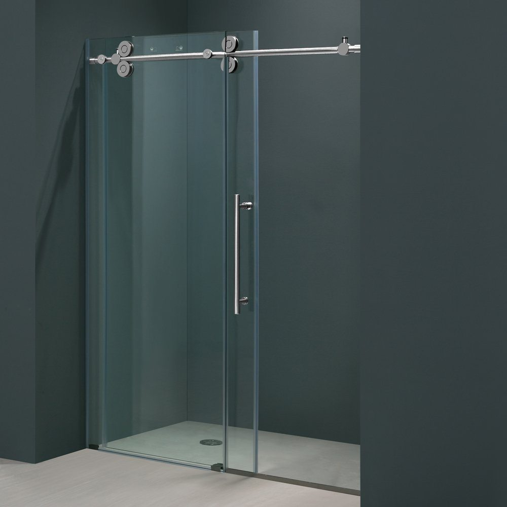sliding shower glass