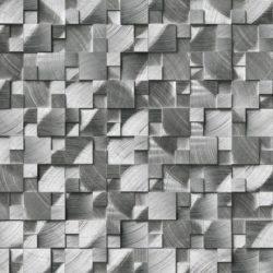 Silver-Aluminum-Metal-3d-Pattern