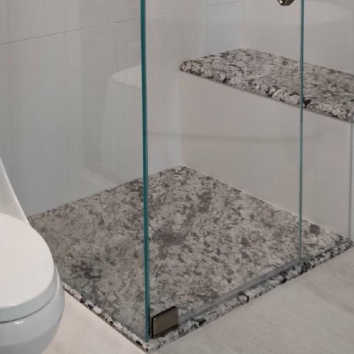 Beautiful Custom Stone Shower Pans
